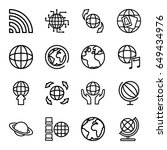globe icons set. set of 16... | Shutterstock .eps vector #649434976