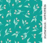 sweet botanical seamless vector ... | Shutterstock .eps vector #649439836