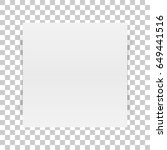square white paper sheet with... | Shutterstock .eps vector #649441516