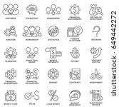 outline web icon set   money ... | Shutterstock .eps vector #649442272
