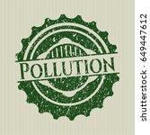 green pollution distress rubber ...   Shutterstock .eps vector #649447612