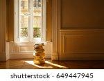 pile of books in the sunlight... | Shutterstock . vector #649447945