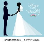 silhouette of a loving couple... | Shutterstock .eps vector #649449838