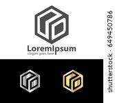 letter od box design logo | Shutterstock .eps vector #649450786