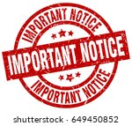 important notice round red... | Shutterstock .eps vector #649450852