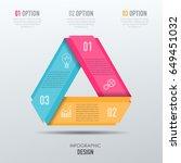 vector abstract 3d digital... | Shutterstock .eps vector #649451032