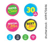 super sale and best offer... | Shutterstock .eps vector #649470646