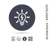 Light Lamp Sign Icon. Bulb Wit...