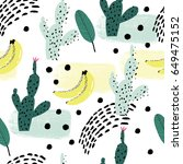 seamless repeating pattern with ... | Shutterstock .eps vector #649475152