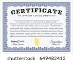 blue sample diploma. with...   Shutterstock .eps vector #649482412