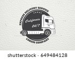 delivery service. cargo... | Shutterstock . vector #649484128