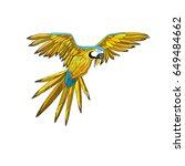 vector illustration. a flying... | Shutterstock .eps vector #649484662