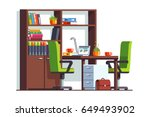 accountant or lawyer office... | Shutterstock .eps vector #649493902