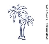 tropical palm trees   Shutterstock .eps vector #649494196
