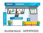 business exhibition show... | Shutterstock .eps vector #649494202