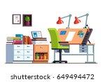 interior design architect or...   Shutterstock .eps vector #649494472