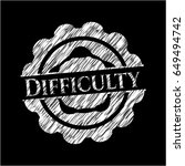 difficulty written with...   Shutterstock .eps vector #649494742