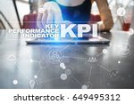 kpi. key performance indicator. ... | Shutterstock . vector #649495312