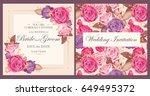 vintage wedding invitation | Shutterstock .eps vector #649495372