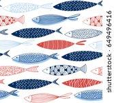 seamless pattern from... | Shutterstock .eps vector #649496416