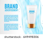cosmetic ads template....   Shutterstock .eps vector #649498306