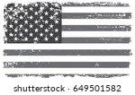 grunge american flag.vintage... | Shutterstock .eps vector #649501582