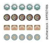 speedometers and indicators...   Shutterstock .eps vector #649507486