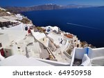 scenic view from oia  santorini ... | Shutterstock . vector #64950958