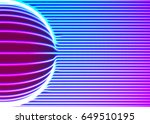 neon lines background with... | Shutterstock .eps vector #649510195