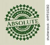 green absolute distress rubber...   Shutterstock .eps vector #649510282