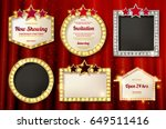 big set of retro frames with... | Shutterstock .eps vector #649511416