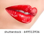 passionate beautiful female... | Shutterstock . vector #649513936