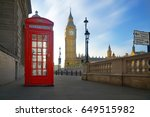 Red Phone Box With Big Ben In...