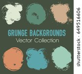 set of blue  green and brown...   Shutterstock .eps vector #649516606