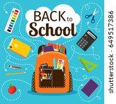 back to school poster. kids... | Shutterstock .eps vector #649517386