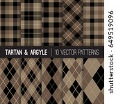 brown argyle  tartan and... | Shutterstock .eps vector #649519096
