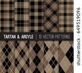 brown argyle  tartan and... | Shutterstock .eps vector #649519096