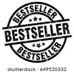 bestseller round grunge black... | Shutterstock .eps vector #649520332