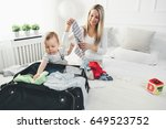 travelling with kids. happy... | Shutterstock . vector #649523752