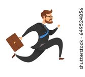 a businessman with a suitcase... | Shutterstock .eps vector #649524856