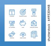 budget icons set. for planning  ... | Shutterstock .eps vector #649530448