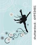 ice skater | Shutterstock .eps vector #64953481