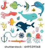 sea vector set | Shutterstock .eps vector #649539568