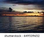 dramatic view of sunset in a... | Shutterstock . vector #649539652