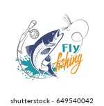 fishing salmon | Shutterstock .eps vector #649540042
