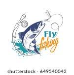fishing salmon | Shutterstock .eps vector #649540042