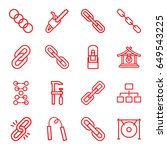 chain icons set. set of 16... | Shutterstock .eps vector #649543225