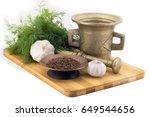 still life spices  cumin ... | Shutterstock . vector #649544656