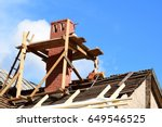 the renovation of a house. | Shutterstock . vector #649546525