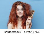 woman's hair  woman with... | Shutterstock . vector #649546768